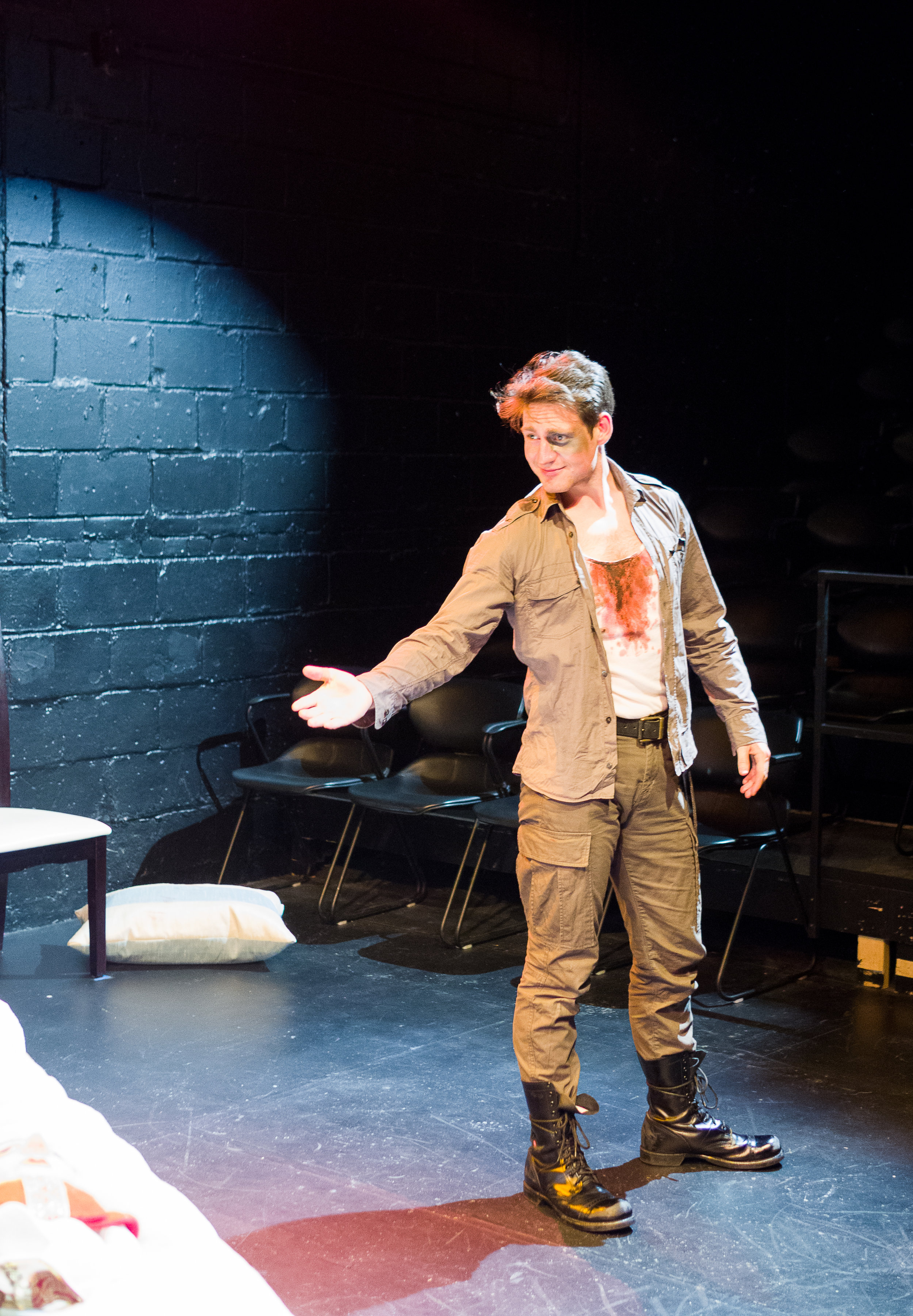Dewey Stewart as Giovanni. Costume by Jan Venus; lighting design by Waleed Ansari. Photography by Rene Stakenborg.