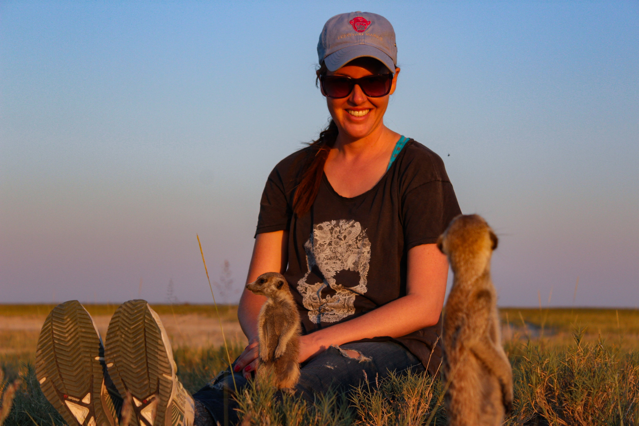 sunset me with meerkats botswana 2015 (1 of 1).jpg