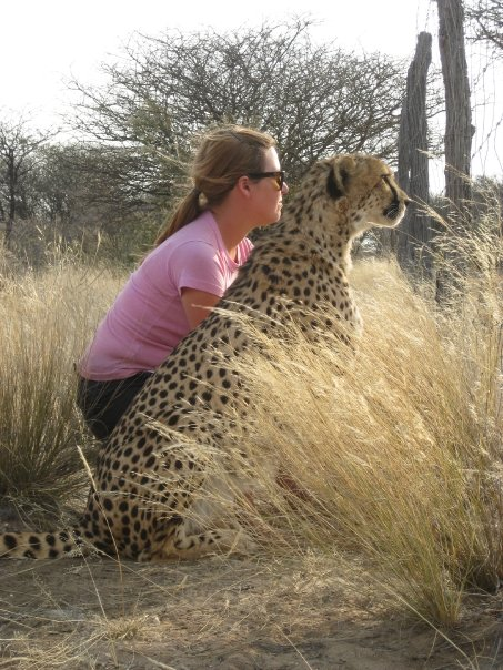 """Contemplating freedom with one of the cheetahs residing at the sanctuary where I volunteered. This photo inspired a book I started writing but later shelved. """"Recovering the Wild Heart"""" was the working title."""