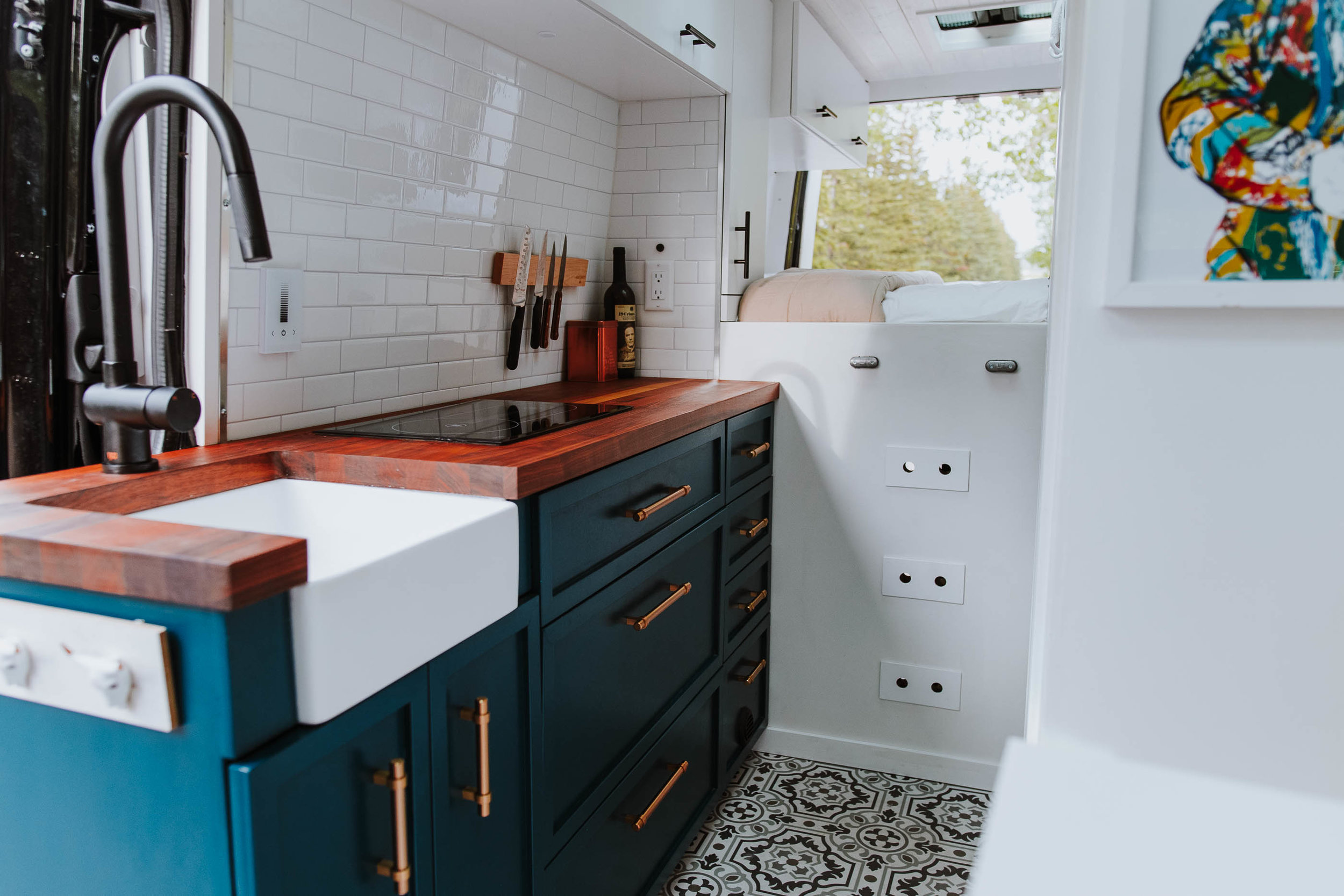 Custom cabinets van conversion