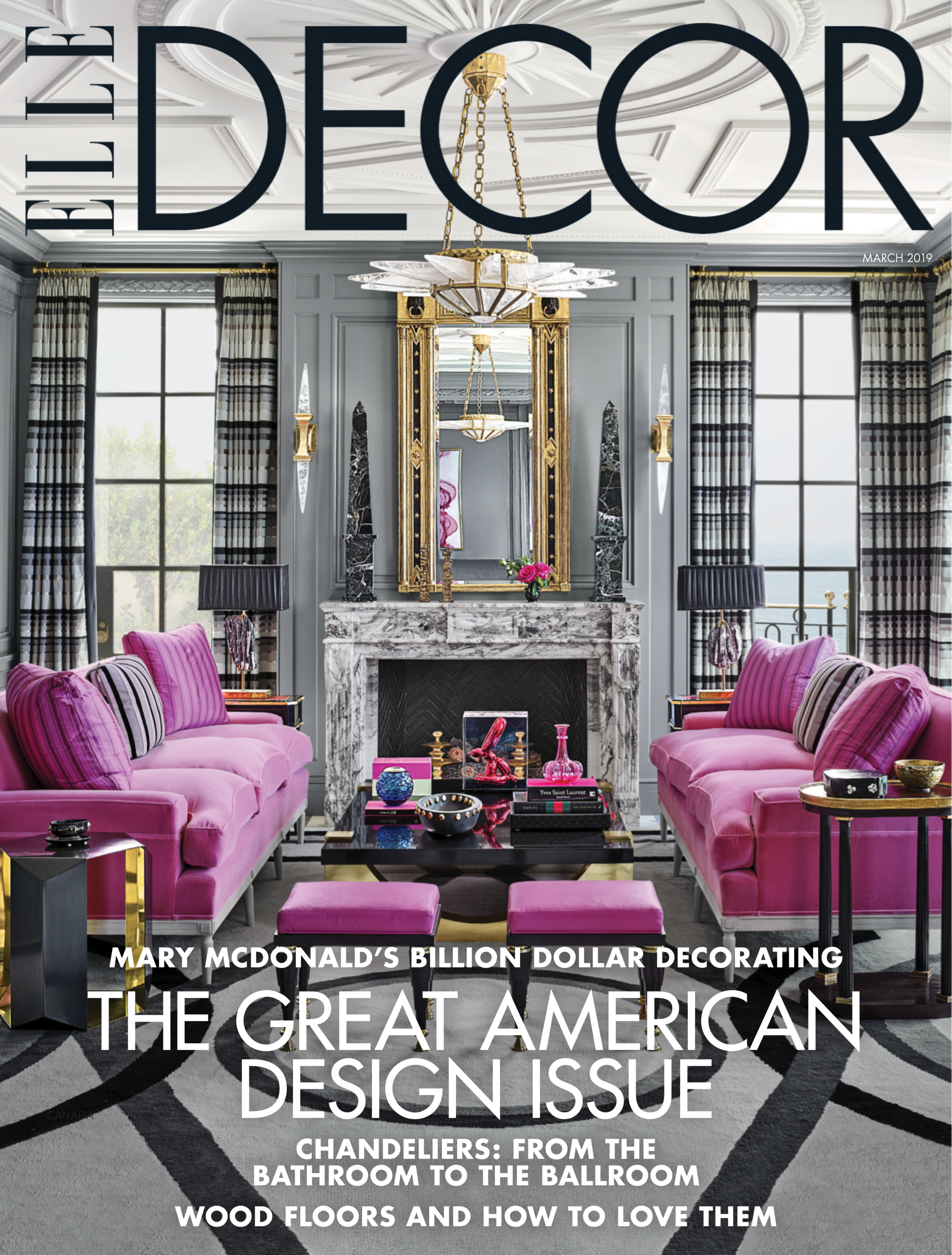 ELLE DECOR  March 2019 Pages: Cover, 76-82