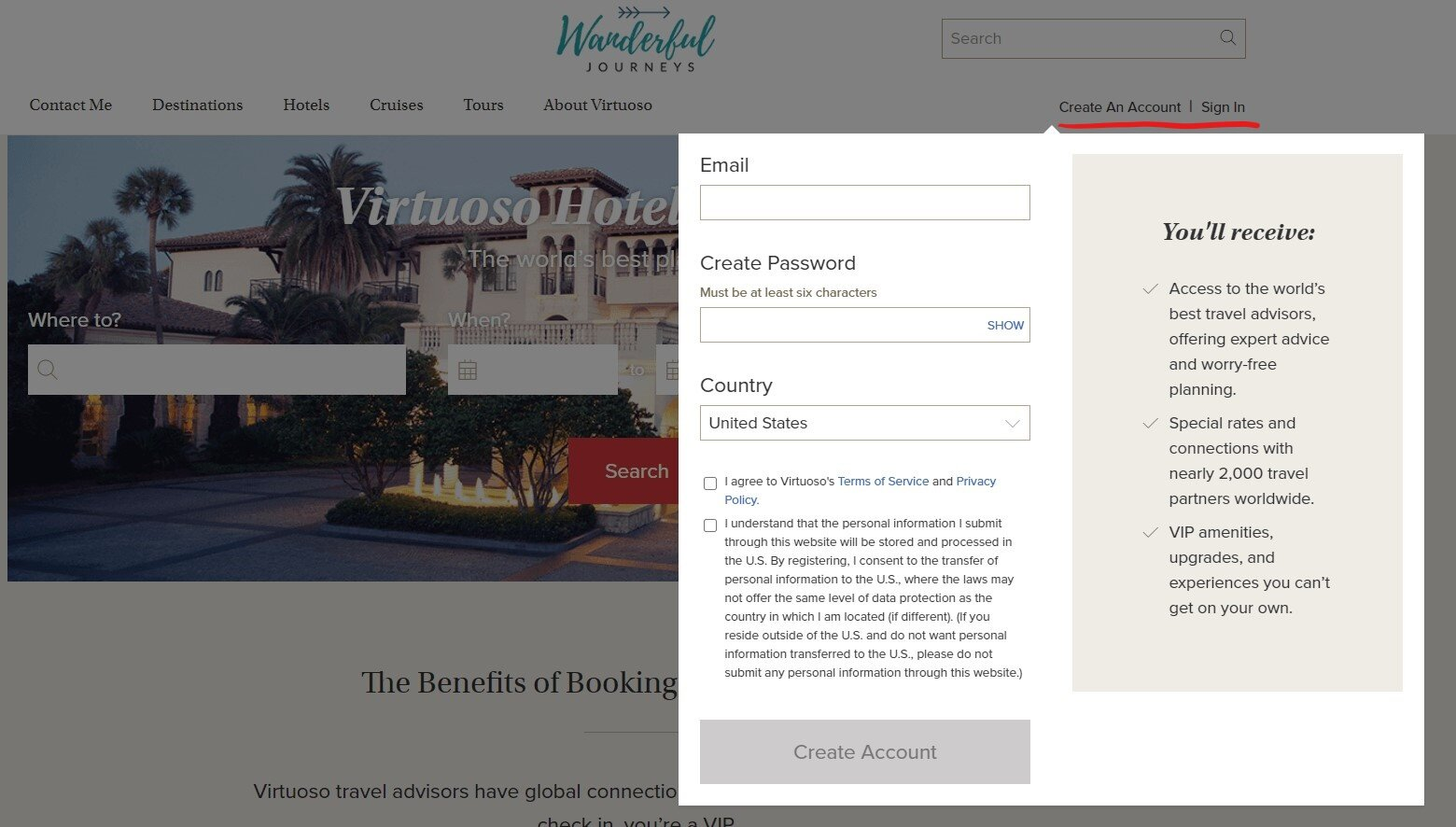 Virtuoso Booking Tool Wanderful Journeys Personalized Adventures For Every Travel Style
