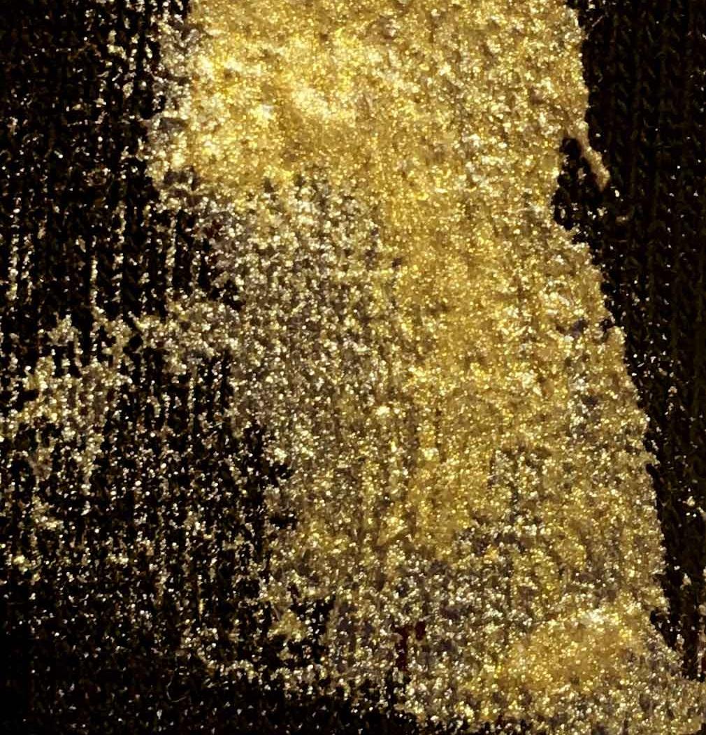 METALLIC GOLD INK  (small metallic gold flakes)