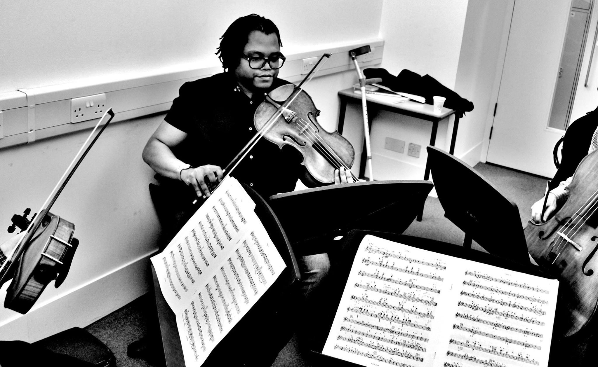 Kreutzer Quartet rehearsing Shostakovich 13