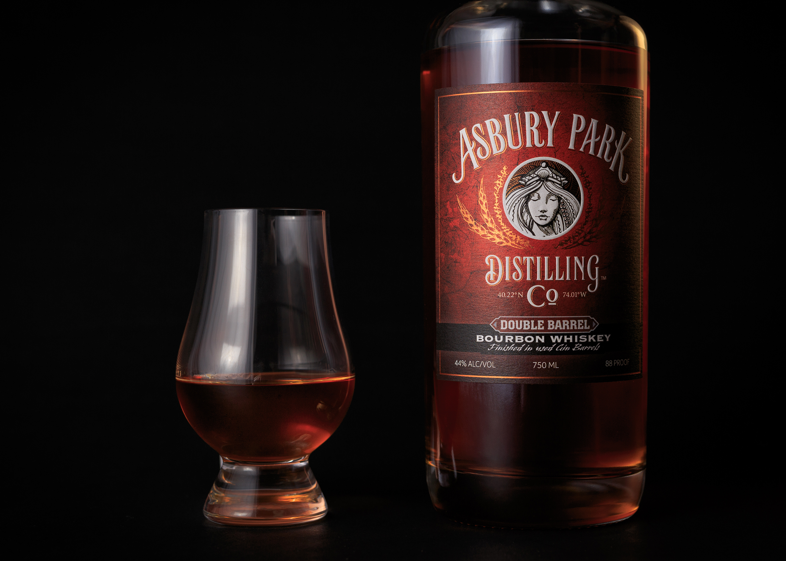 Asbury Park Distilling Bourbon with Snifter