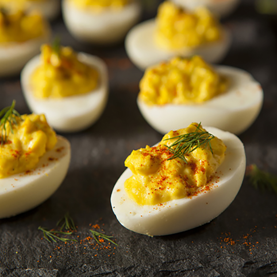 Simple South of the Border Deviled Eggs
