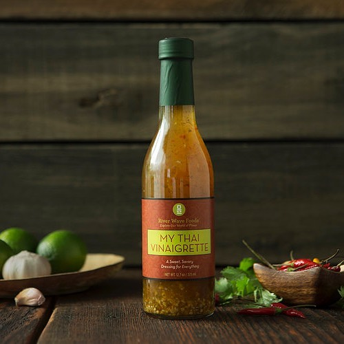Want to take your peanut sauce to the next level? Grab our My Thai Vinaigrette and make your best ever peanut sauce! Just 1/2 cup peanut (or alternative nut) butter, 1/4 cup River Wave Foods My Thai Vinaigrette and 1/3 cup warm water. Make small batches that match the consistency and spice level you have always desired! #riverwavefoods #mythai #peanutsauce