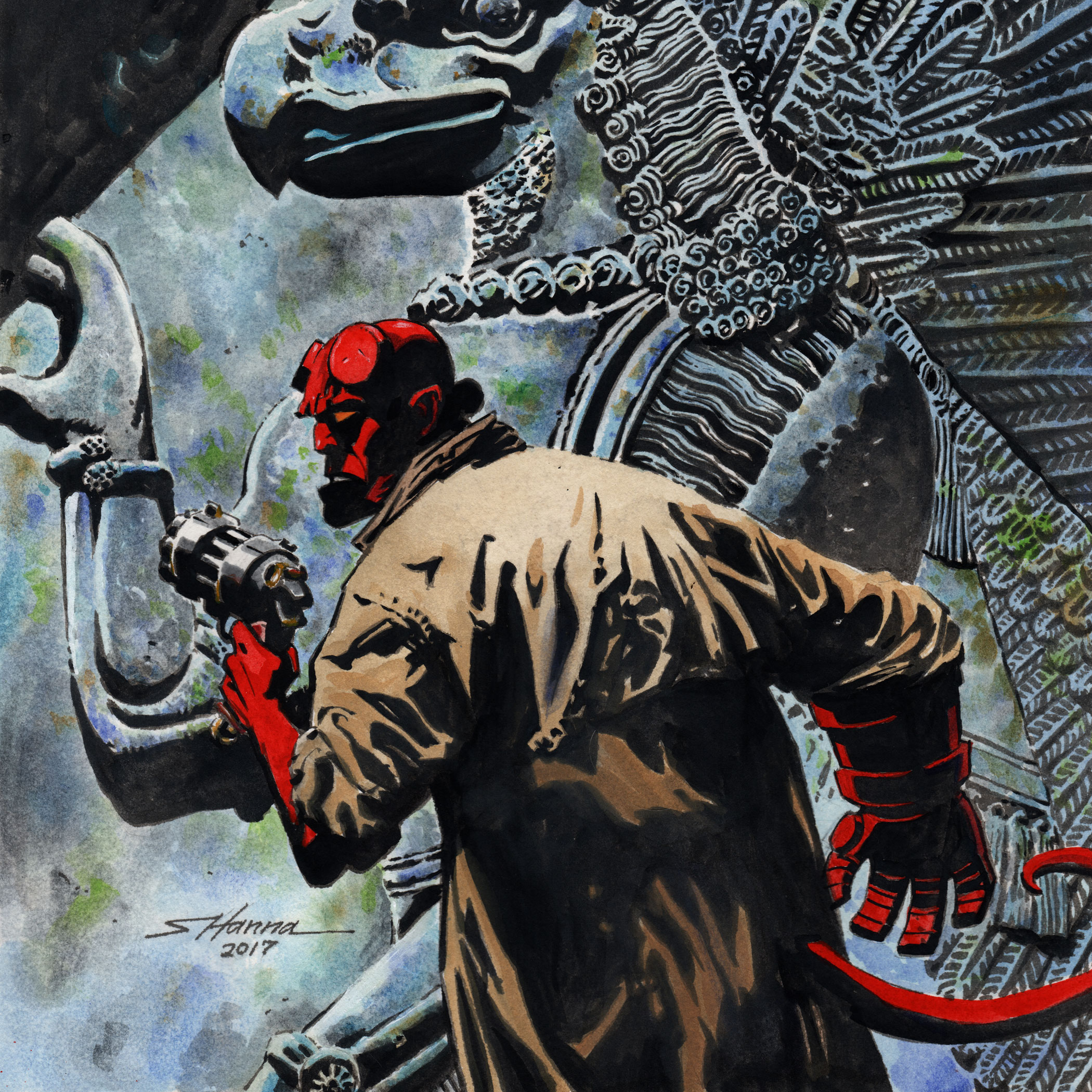 A Tribute to Mike Mignola's Hellboy - Oct 28, 2017 – Jan 29, 2018