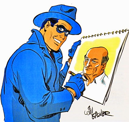 The Spirit, with his creator, by Will Eisner