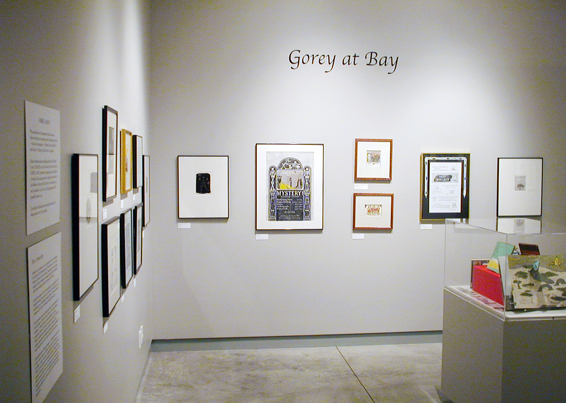 The works of Edward Gorey, on display at the 655 Mission Street gallery during the 2001  Gorey at Bay  exhibition.