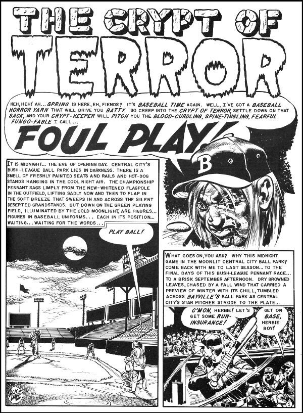 """The infamous """"Foul Play,"""" from  Haunt of Fear  #19 (May/June 1953), written by Al Feldstein, and drawn by Jack Davis. Images are property of William M Gaines Agent, Inc. © 2019."""