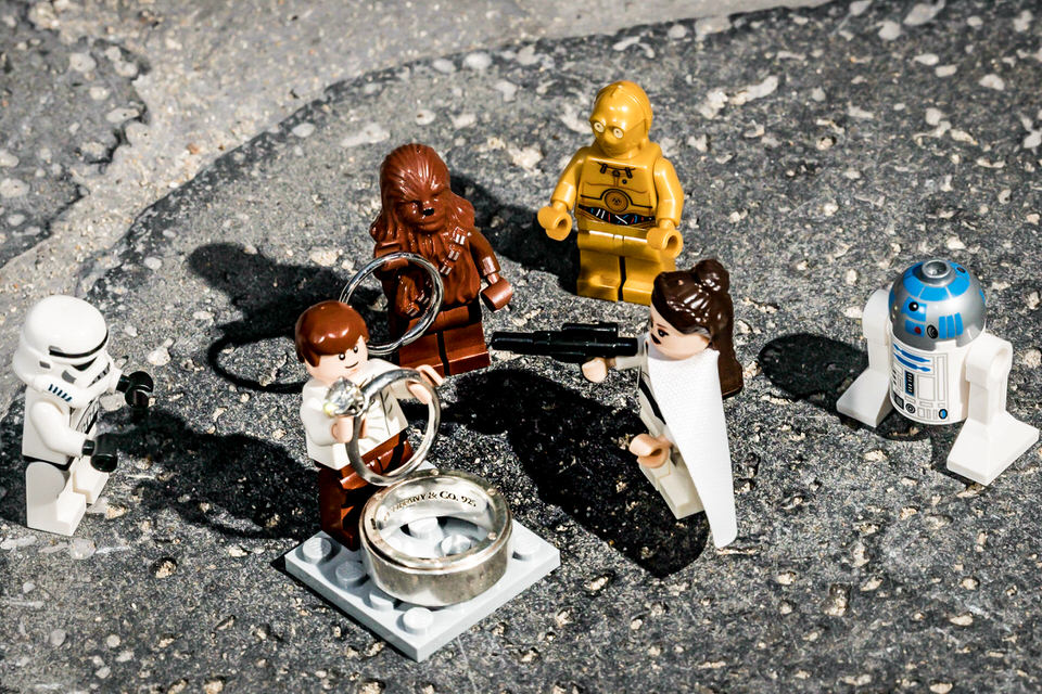 Star Wars & Legos - Need we say more about the theme of this wedding :)
