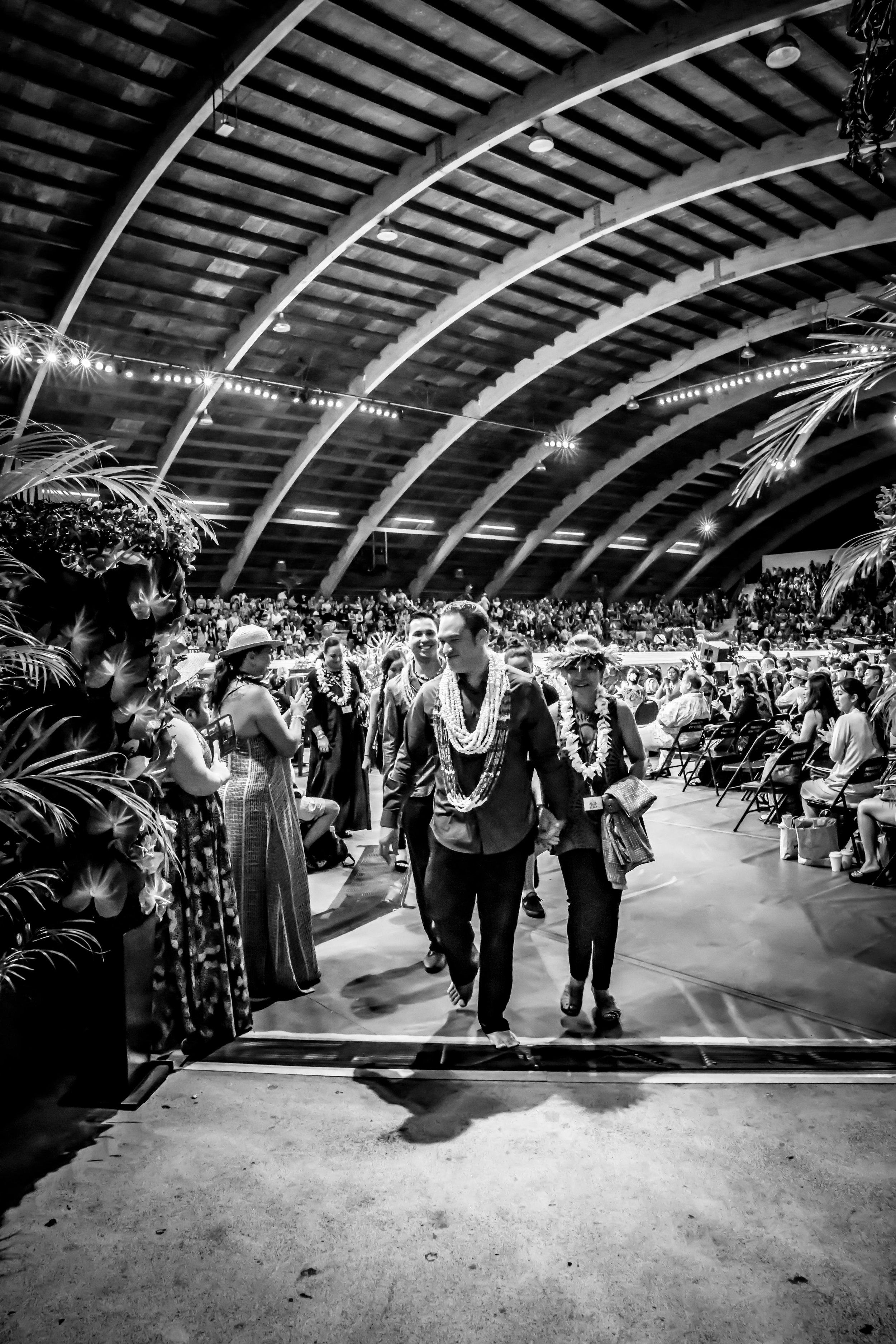 Hālau Manaoloa - Hālau Manaola under the direction of Kumu Hula Nani Lim-Yap and choreography by Carrington Manaola Yap competed in the Merrie Monarch Wahine Auana Competition with the mele Mahina ʻO Hoku & Po La'ila'i.