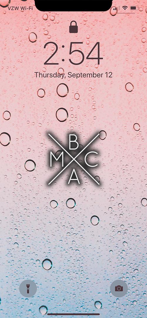 BMAC RAIN WALLPAPER (W/ LOGO) EXAMPLE