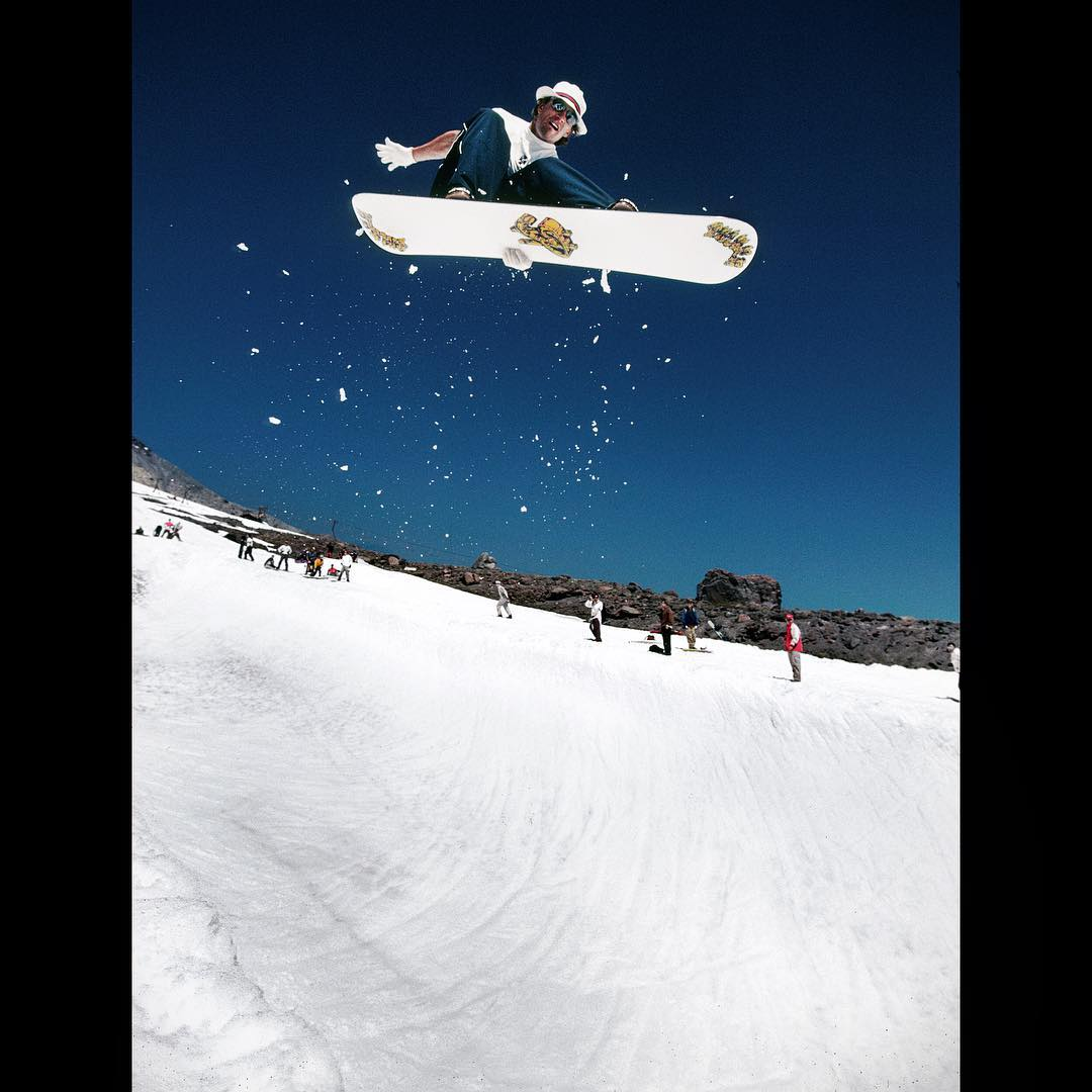 mount hood snowboard camp - 1992. charles arnell.Andy Hetzel by bud fawcett