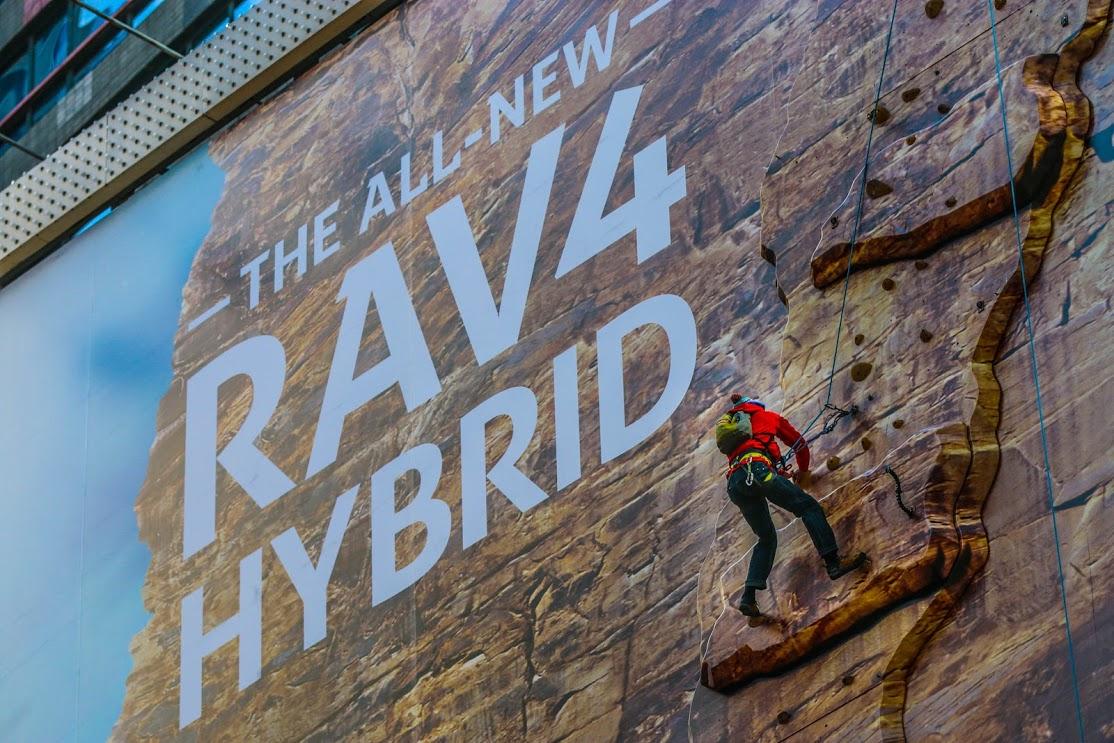 TOYOTA RAV4 BILLBOARD CLIMB
