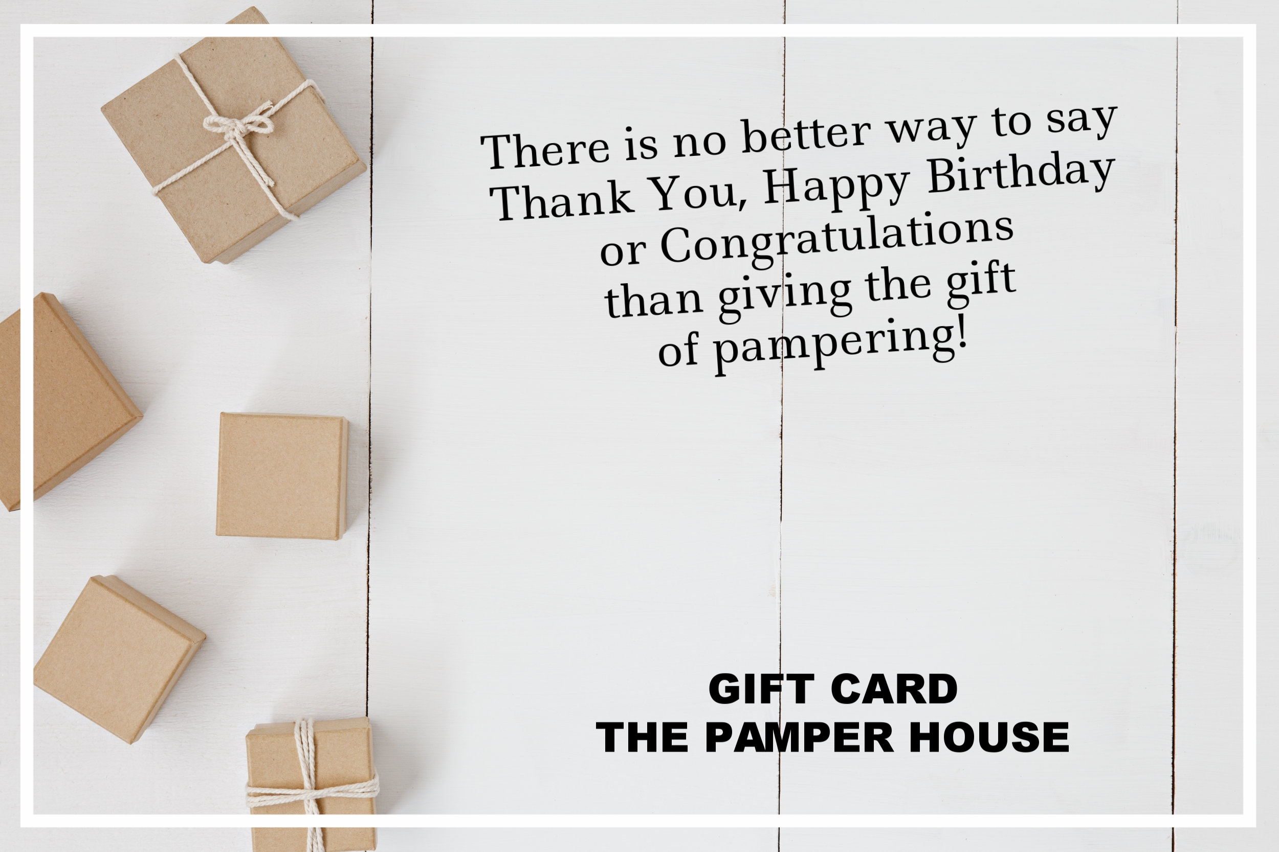 The Pamper House Gift Card Arlington Texas
