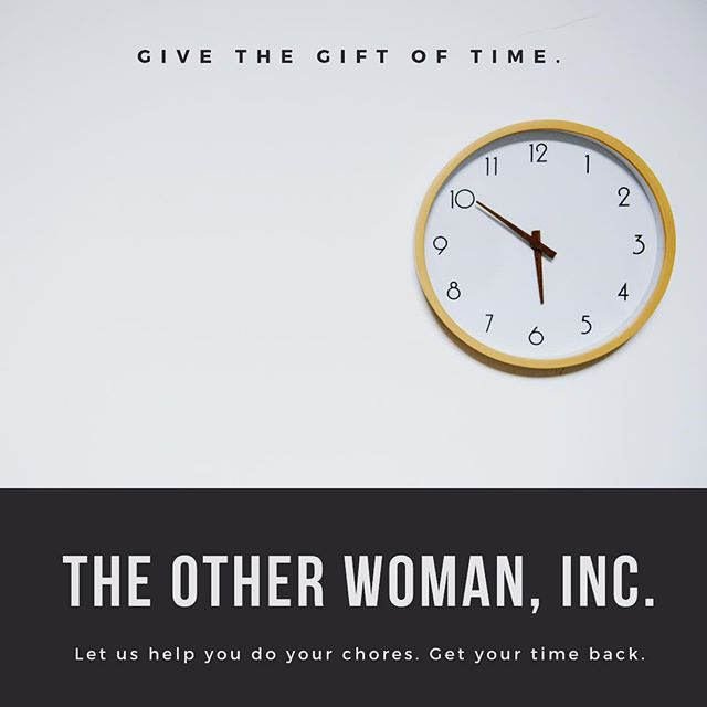 ⏰🎁 Give the gift of time... #theotherwomaninc #raleigh #dtr #northcarolina #housecleaning #conciergeservices #giftoftime #savetime #hiring #hiringinraleigh