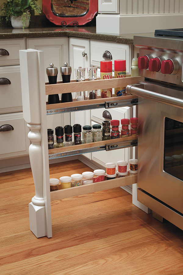 COLUMN SPICE CABINET PULL OUT WITH SPLIT LEG