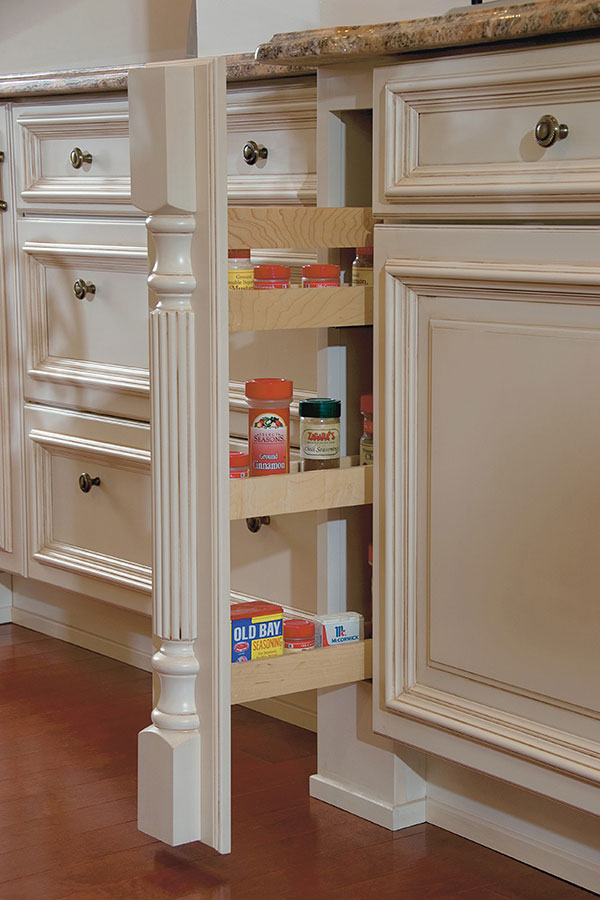 COLUMN SPICE CABINET PULL OUT WITH SPLIT TURNING