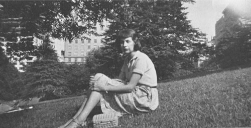 Amy in Riverside Park, near Columbia, c. 1941