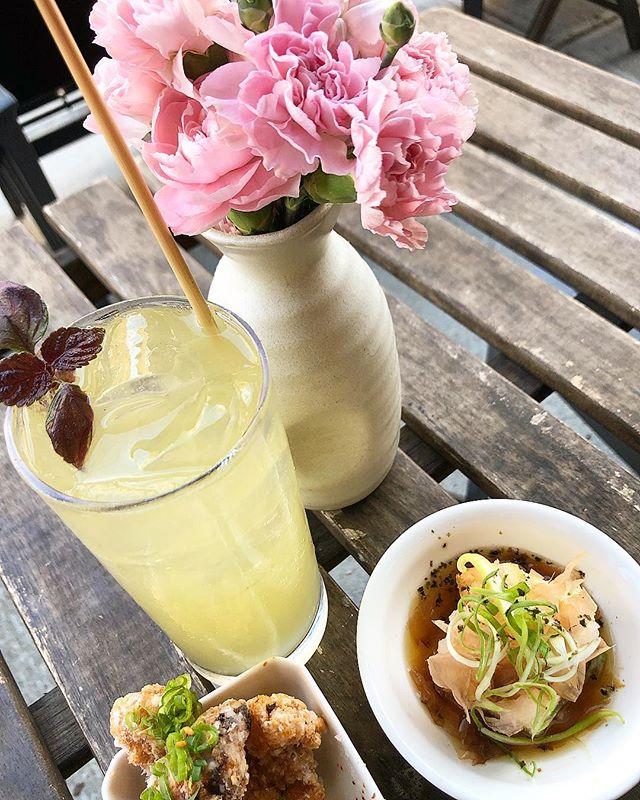 Patio is open, sun is shining, and happy hour has started #teobrooklyn . . . . . . . #Yakitori #yaki #smallplates #cocktails #drinks #eats #foodporn #bushwick #bushwickcollective #tofu