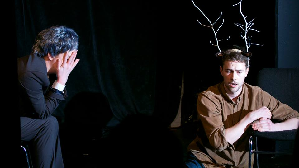 DEER HARPER - One Act PlayPRODUCTION HISTORY:2015 - Pull Festival - Speakeasy Theatre - Published in Pull Festival Anthology 12016 - Shift Festival - Shift TheatreDESCRIPTION:Deer Harper is a darkly comedic love story starring former Canadian Prime Minister Stephen Harper and a deer.