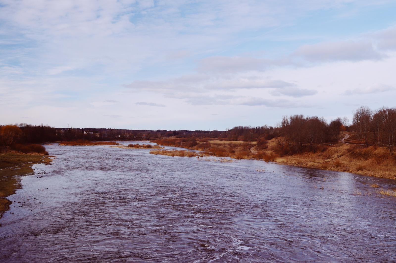 Venta River with Kuldīga and Kalnmuiža in the distance.