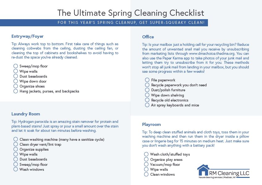 Click on the image or the button below to download our spring cleaning checklist!