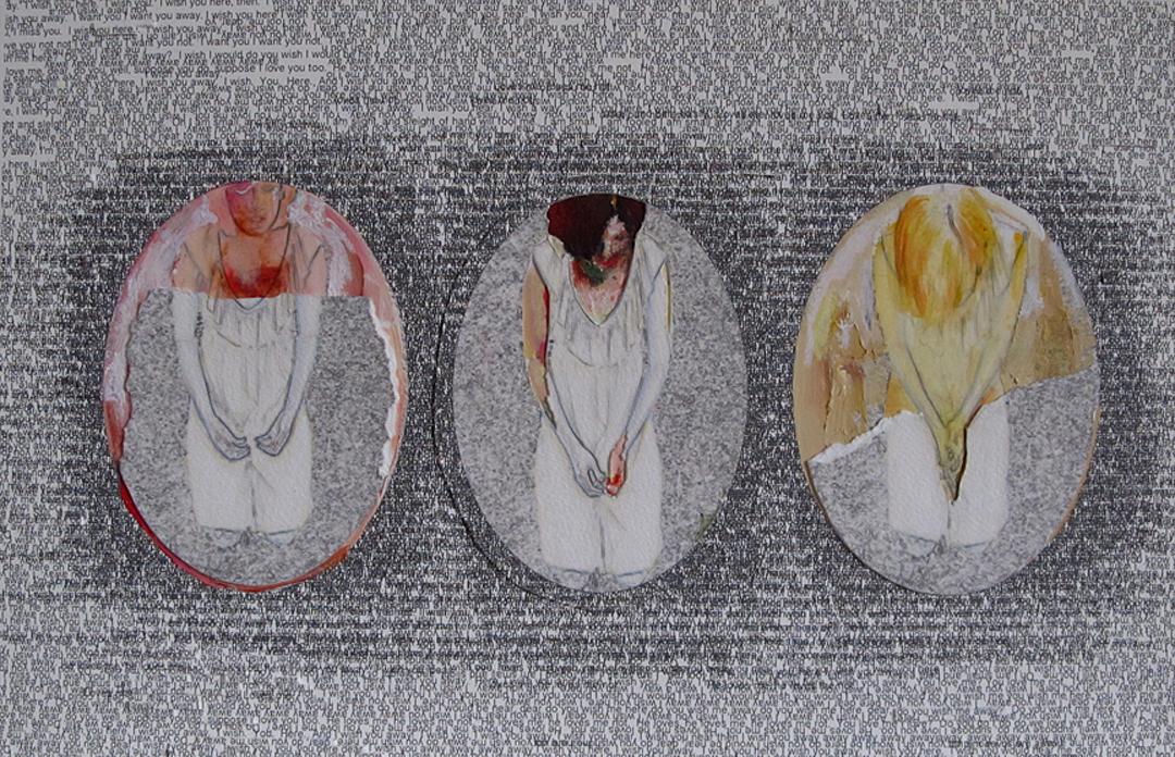 Prayer,  acrylic and oil pastel on inkjet print, 2012