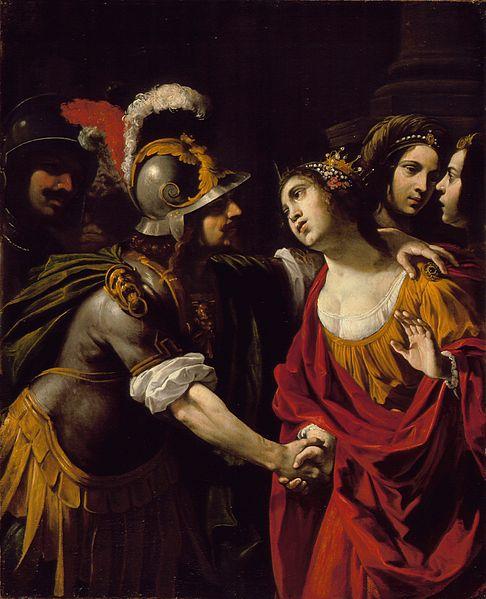 Rutilio Manetti,  Dido and Aeneas. Oil on canvas. Italy, circa 1630.