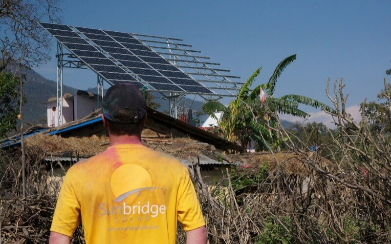 Rural Nepal Half Complete Solar Array