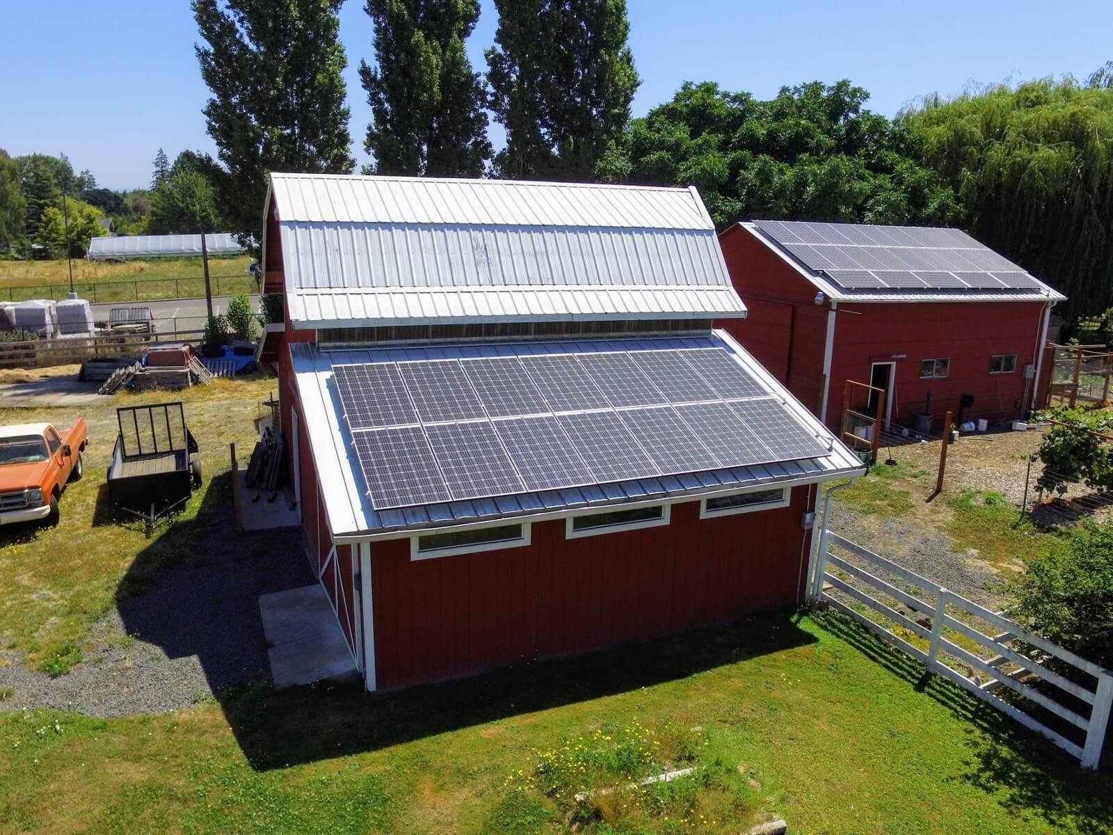 solar panels metal barn rural oregon.jpeg
