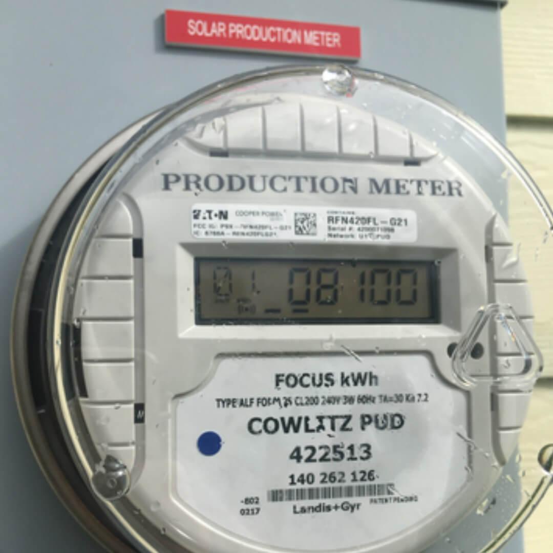 solar pv production meter