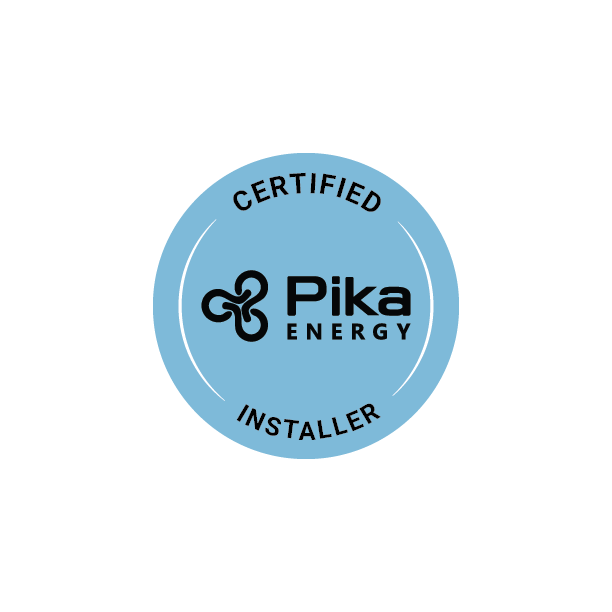 Pika Energy Certified Battery Installer Badge