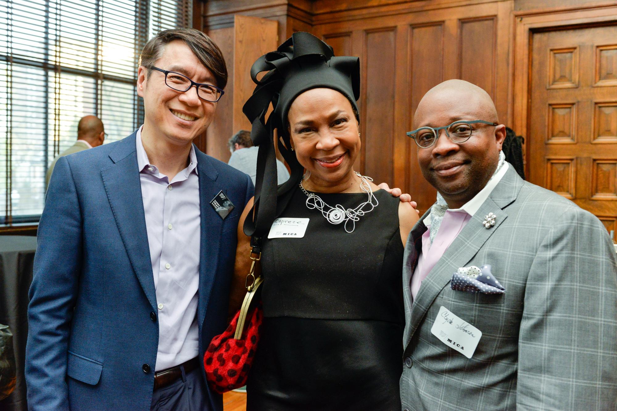 "Left to Right:  Samuel ""Sammy"" Hoi, President  Caprese Jackson-Garret  Clyde Johnson, Associate Dean of Identity and Inclusion"