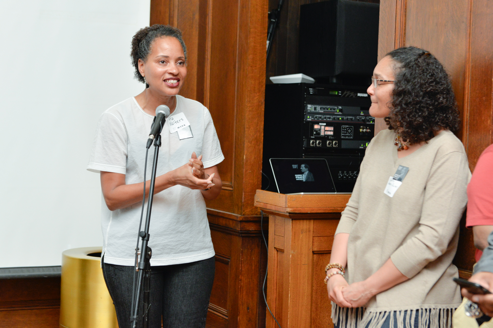 Left to Right:  Rita Walters, Former Vice President of Advancement  Colette Veasey-Cullors, Associate Dean for Design and Media, Former Department Chair - Photography