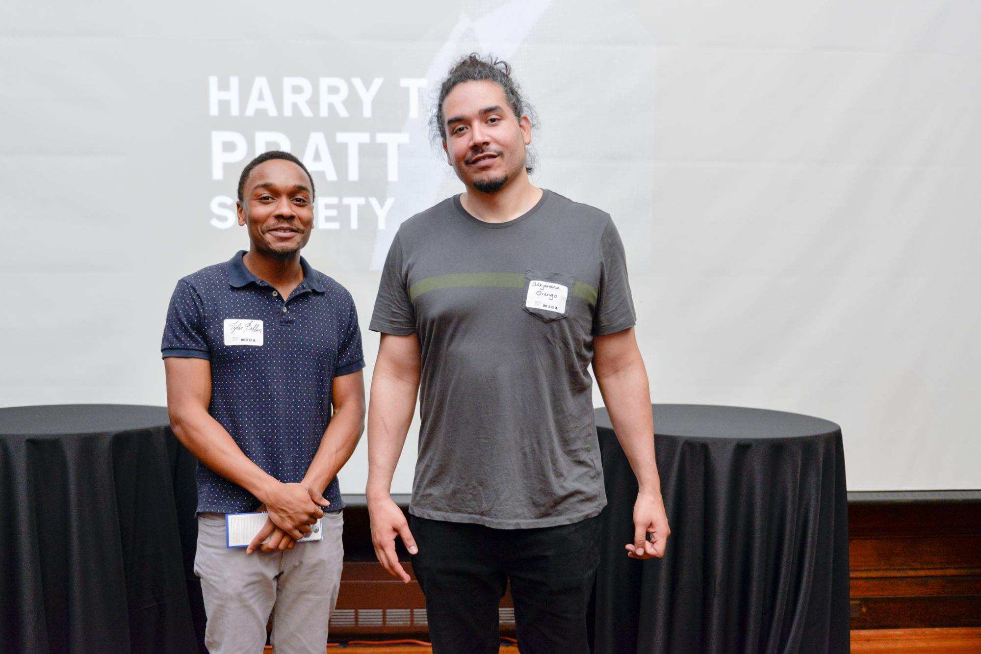 Left to Right:  Taylor Ballon, First Recipient of the Inaugural Harry T. Pratt Award (Undergraduate)  Alejandro Orengo, First Recipient of the Inaugural Harry T. Pratt Award (Graduate)