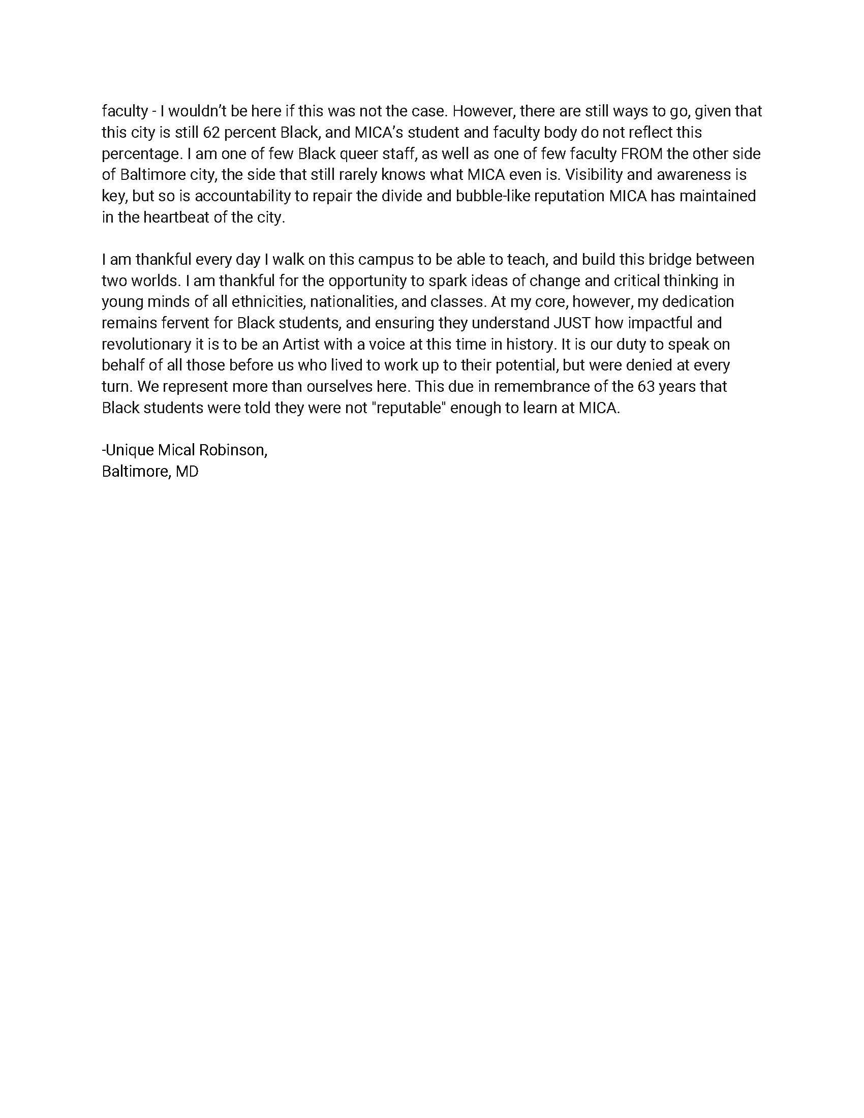 Unique Robinson's Speech, Side 2