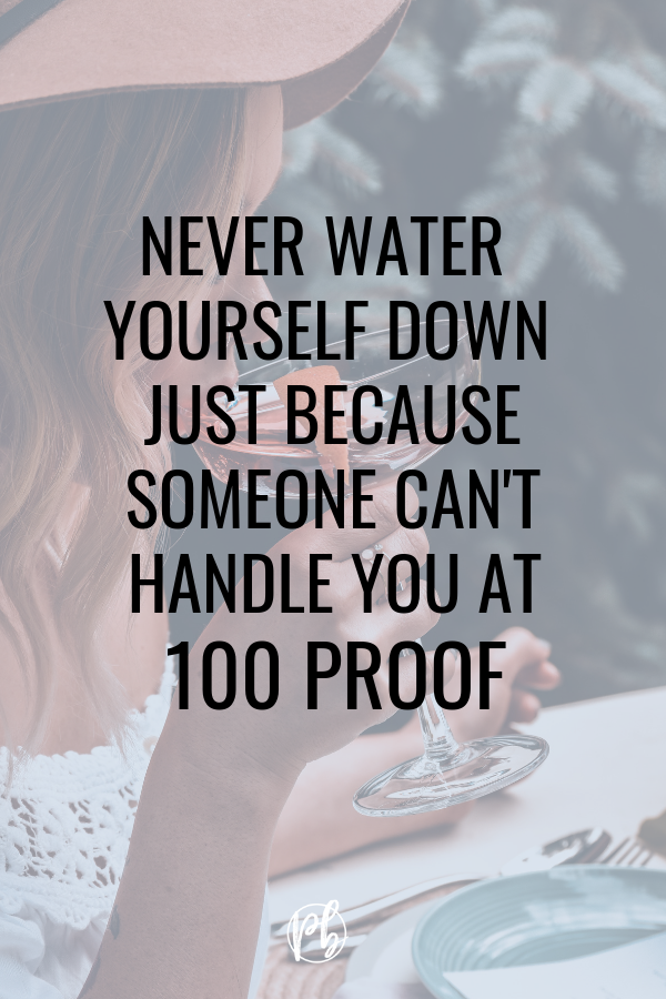 Can't Handle You at 100 Proof