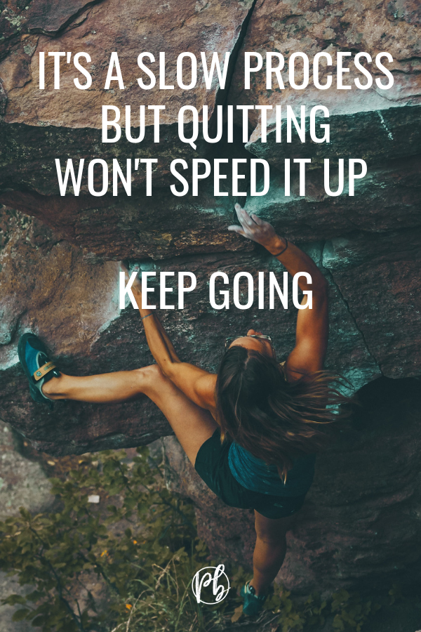 Quitting Won't Speed It Up