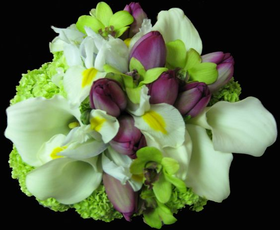 Spring Bouquet with Purple Tublips.jpg