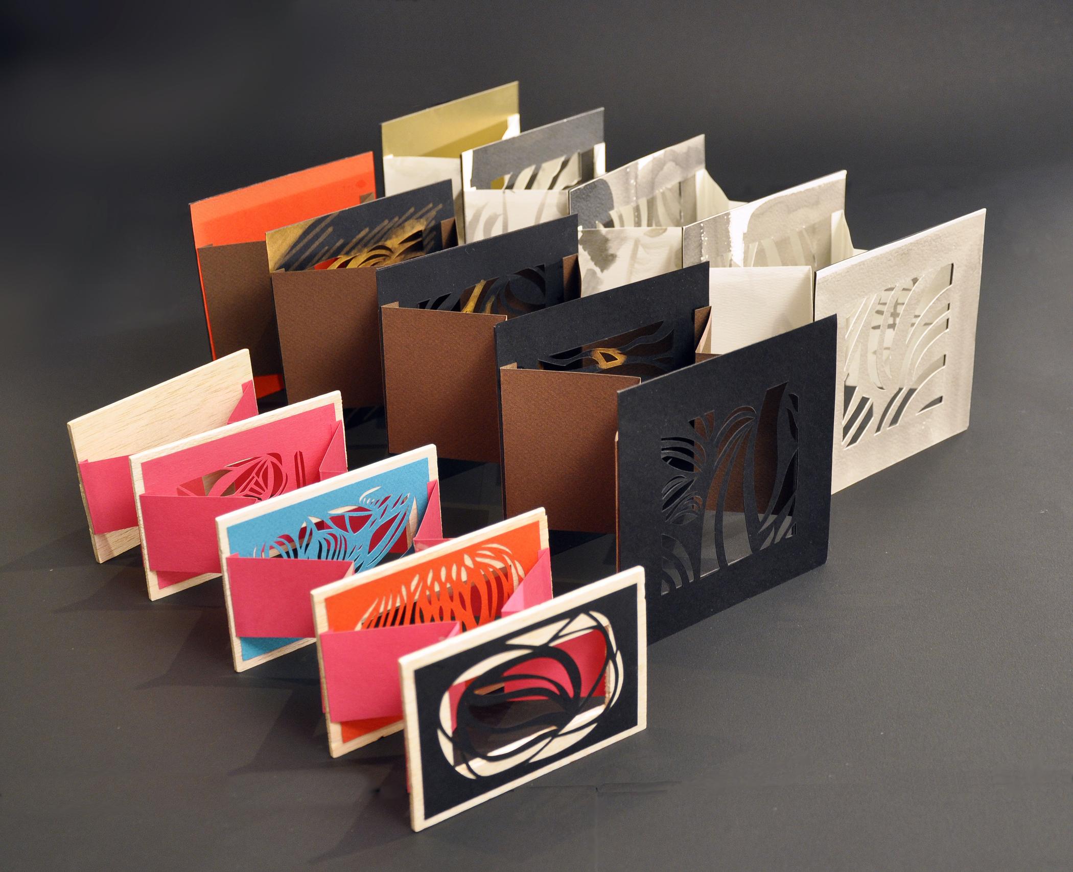 """Artist's Tunnel Books  – 3.25"""" x 4.74"""" x 17""""; 5.5"""" x 5.5"""" x 21""""; 5.5"""" x 5.5"""" x 21"""""""