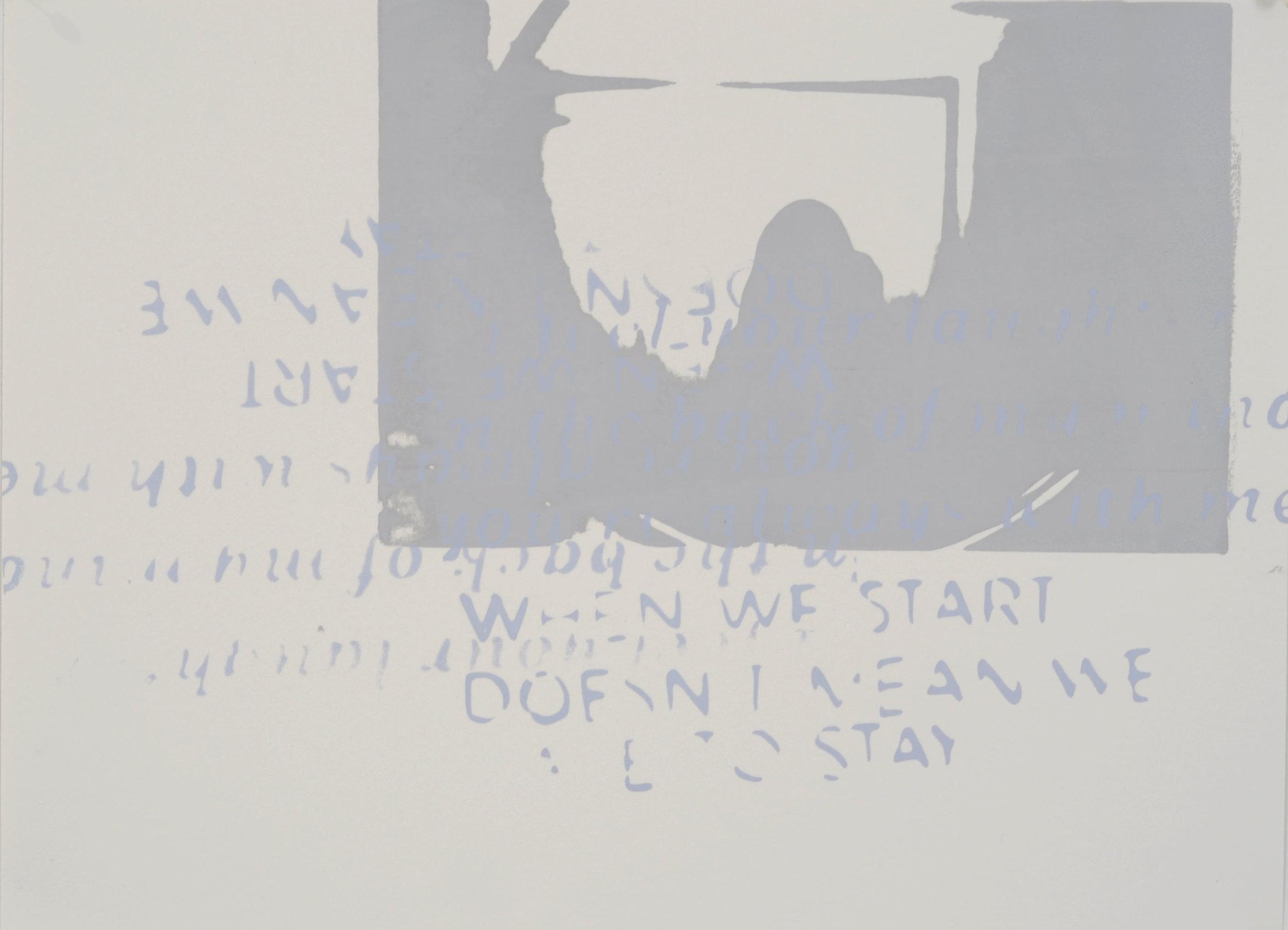 "Grey , 2018 – screen print, 9"" x 12"""