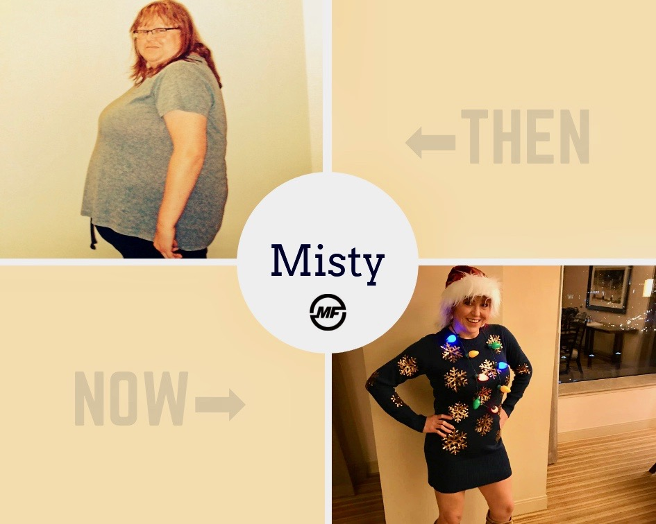 Misty has lost 150+ pounds and kept it off over three years of working with Tony.