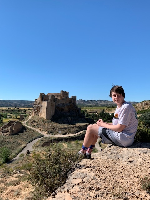 Author Sean Confoy's view of the castle where he works everyday to uncover the past.