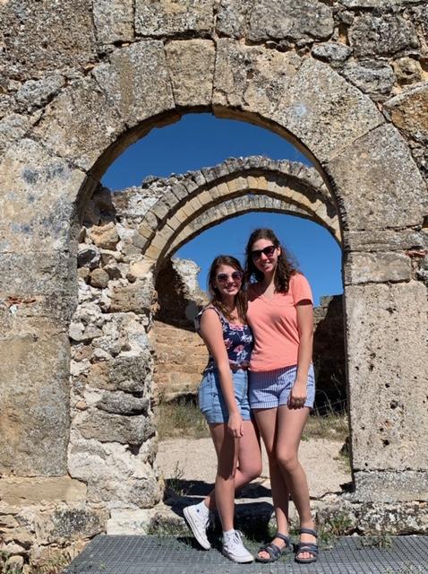 Natalie Schory (left) and Izzy Freidline in Zorita, Spain