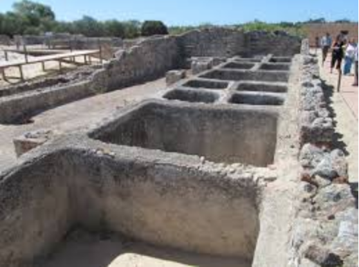 An example of the vats in Troia used to by Romans to make garum (fish paste)