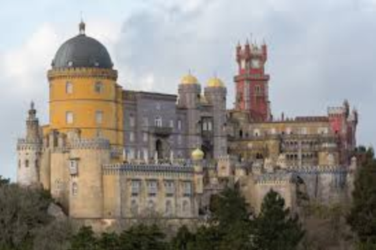 The palace of Pena in Sintra.