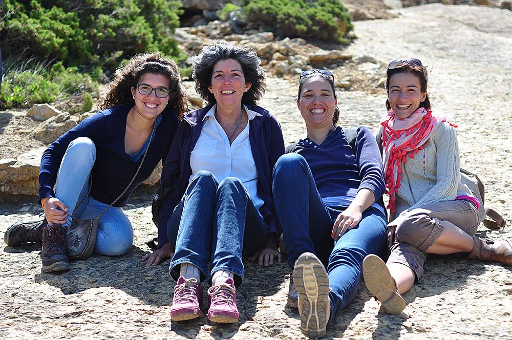 Inês (second from left) and her team: Ticha, Patrícia and Filipa.